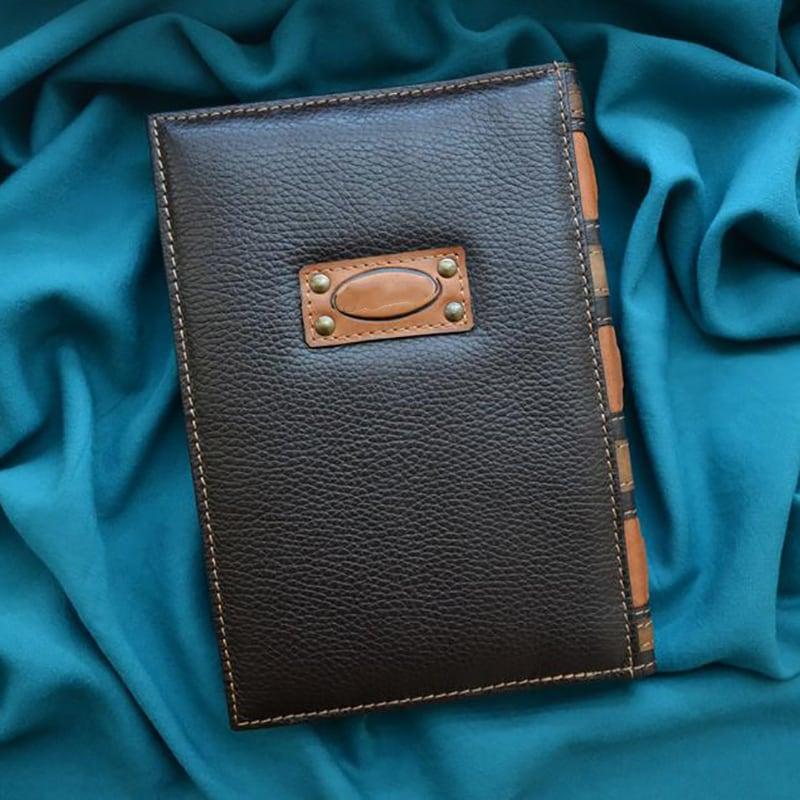 Кожаный ежедневник Yin-Yang Dragons brown leather