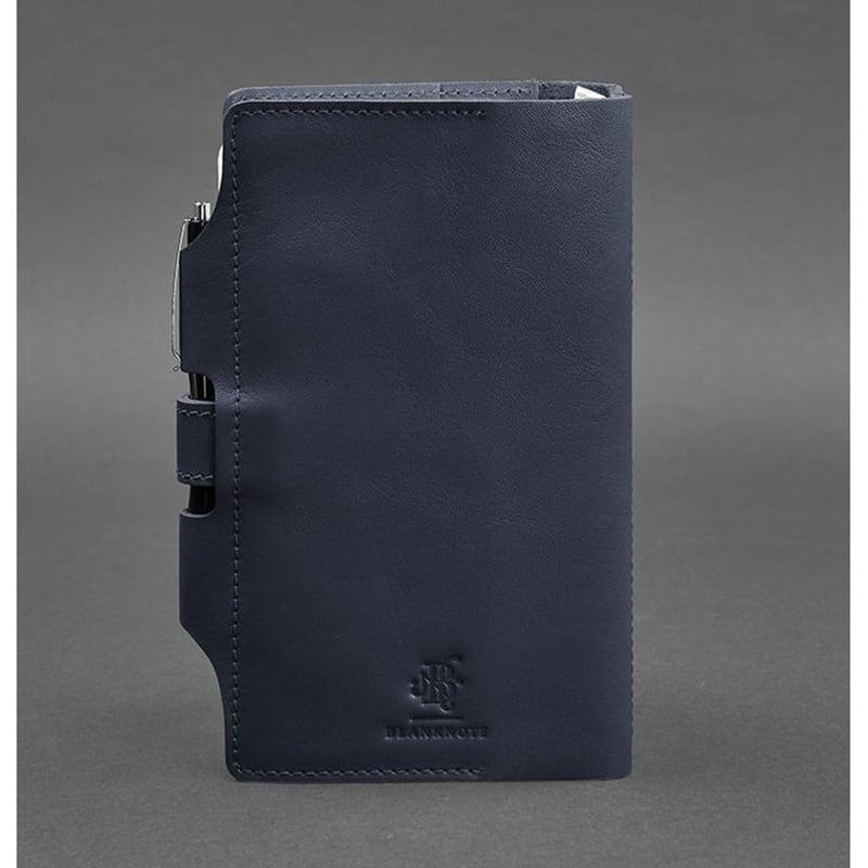 Блокнот в кожаной обложке SoftBook Navy Blue Leather