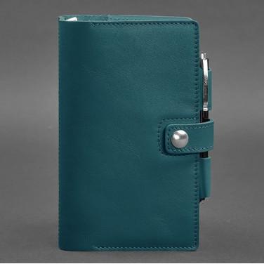 Блокнот в шкіряній палітурці SoftBook Emerald Green Leather