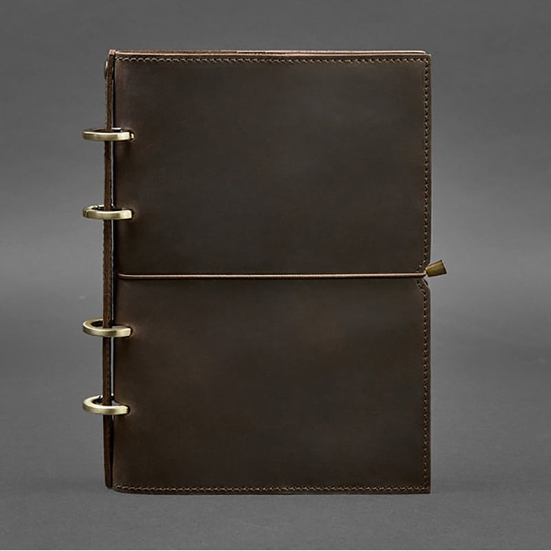 Блокнот в кожаной обложке Dark Сhocolate Brown Leather