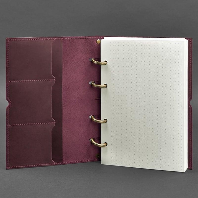 Щоденник в шкіряній обкладинці Grape Bordeaux Leather