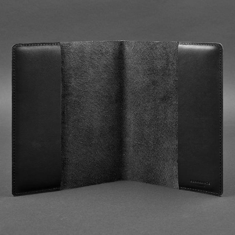 Шкіряна обкладинка для блокнота Krust Black Leather