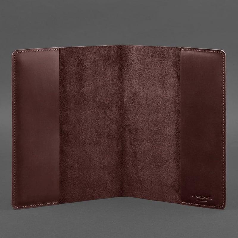 Шкіряна обкладинка для блокнота Crazy Horses Wine Leather