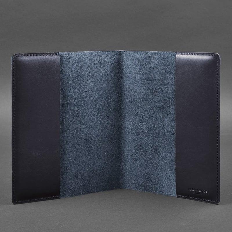 Обкладинка шкіряна для блокнота Navy Blue Leather
