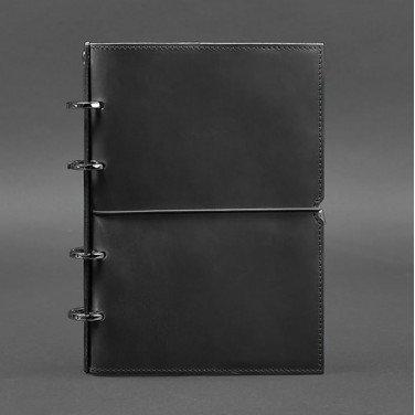 Кожаный блокнот на кольцах Рithiness Black Leather