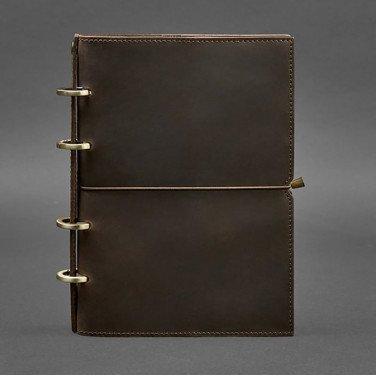 Блокнот в шкіряній обкладинці Dark Сhocolate Brown Leather