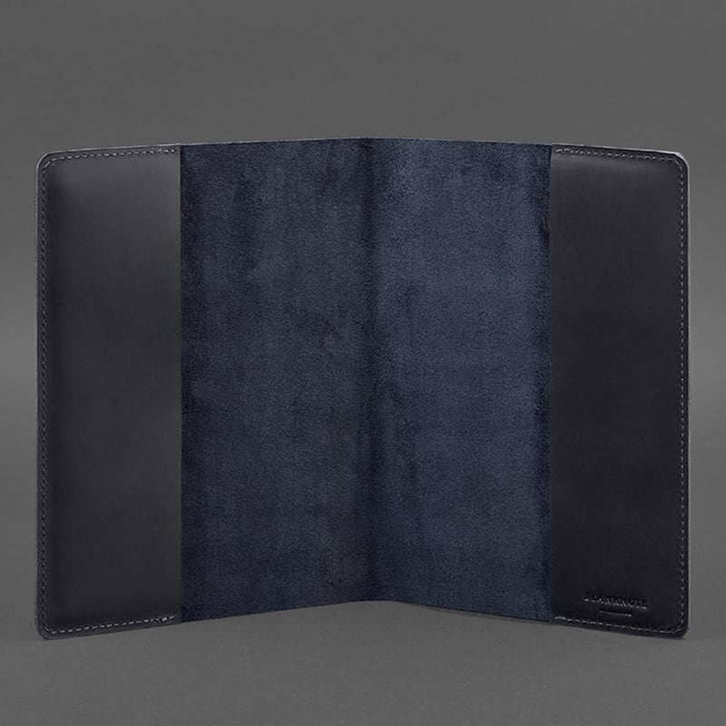 Кожаная обложка для ежедневника Navy Blue Leather