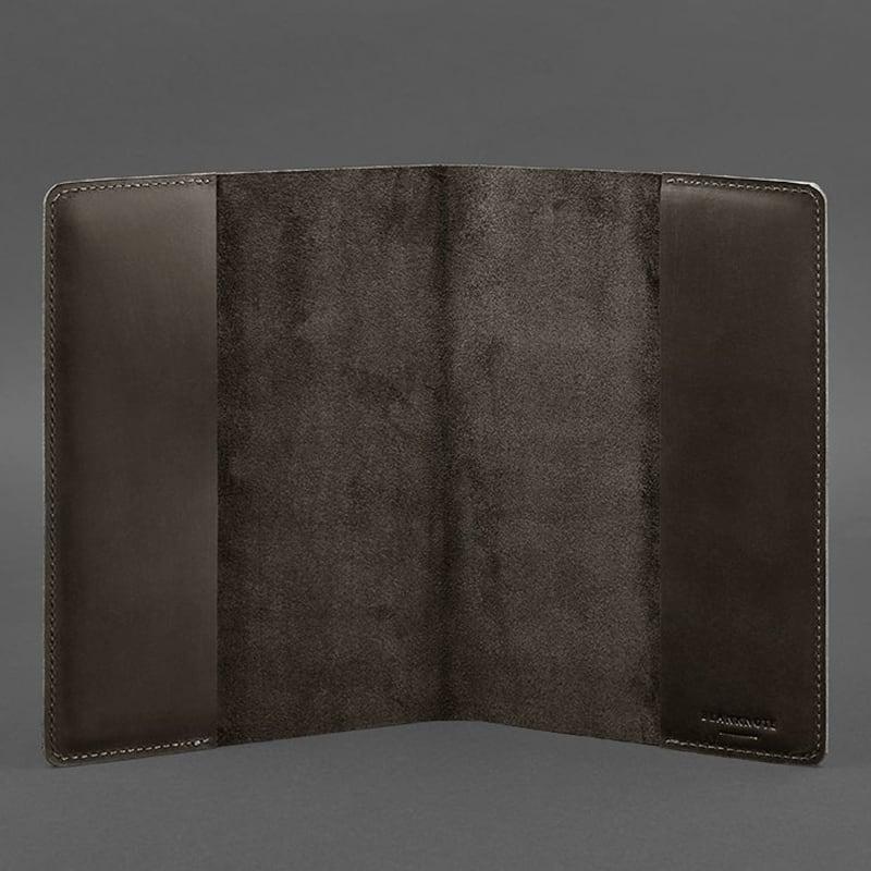 Шкіряна обкладинка А5 Dark Сhocolate Brown Leather