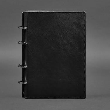 Кожаный блокнот на кольцах Krust Black Leather