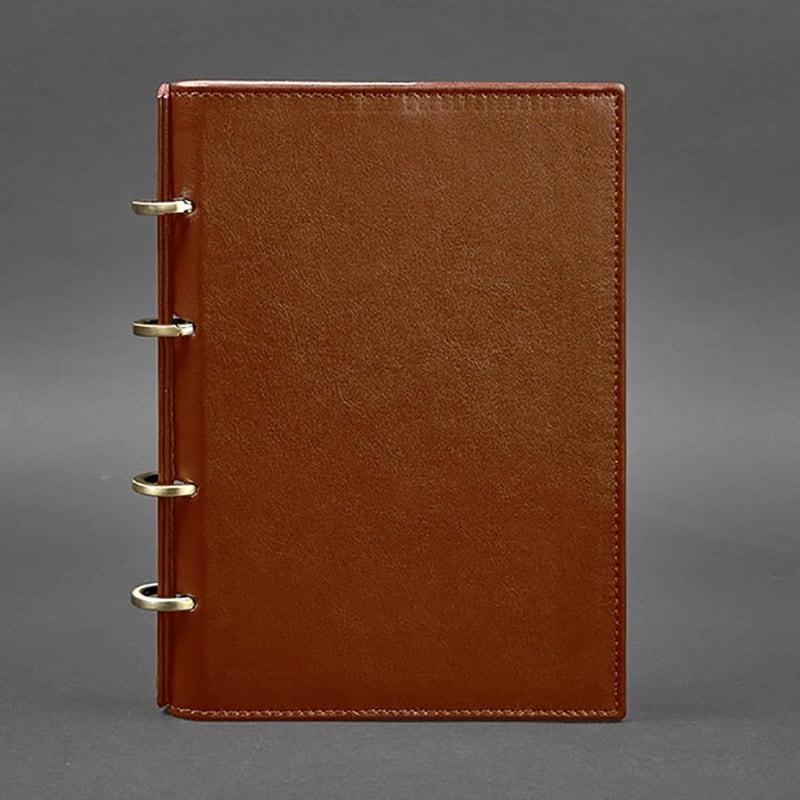 Ежедневник в кожаной обложке Cinnamon Brown Leather