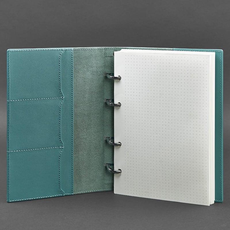 Блокнот Шкіряний А5 Emerald Green Leather