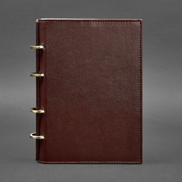 Блокнот кожаный А5 Notebook Bordeaux Leather