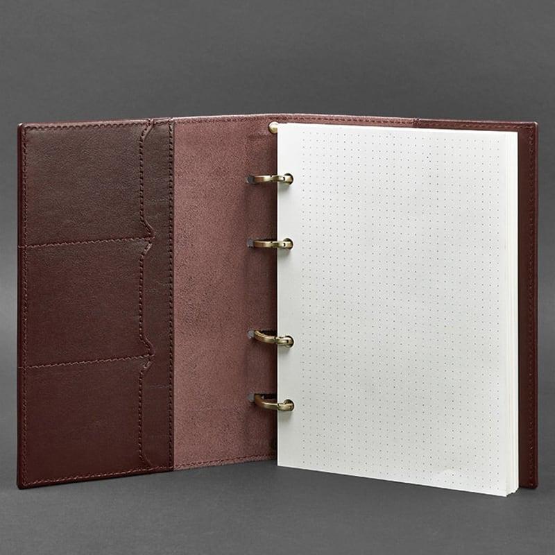 Блокнот Шкіряний А5 Notebook Bordeaux Leather