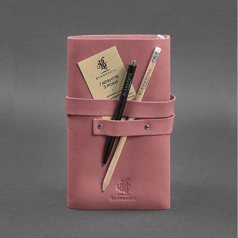 Жіночий шкіряний блокнот SoftBook Peach Pink Leather