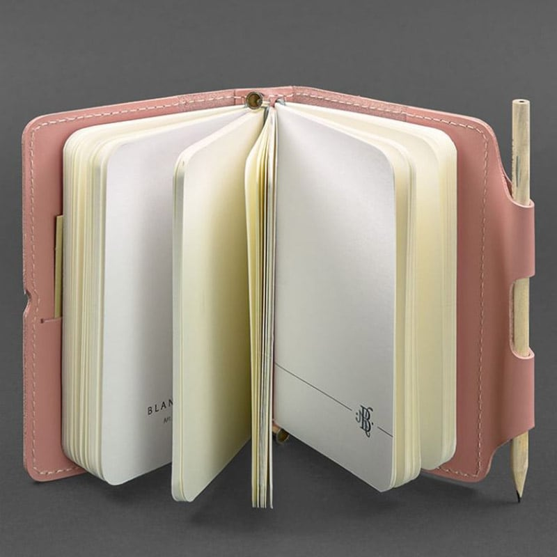 Женский кожаный блокнот SoftBook Coral Pink Leather