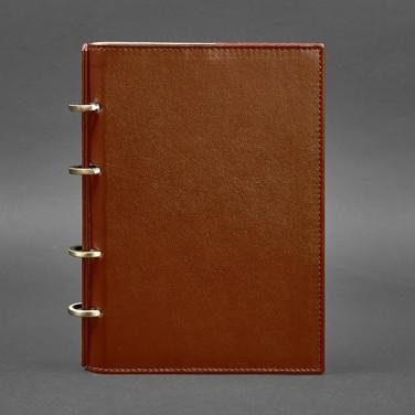 Щоденник в шкіряній обкладинці Cinnamon Brown Leather