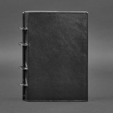 Блокнот кожаный А5 на кольцах Notebook Вlack Leather
