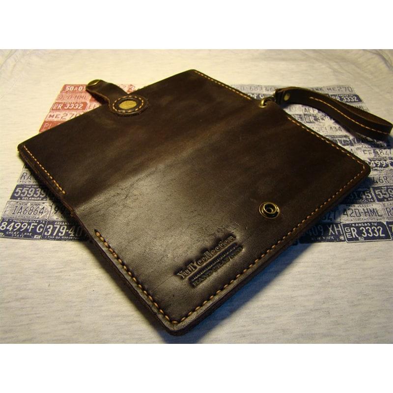 Чоловічий гаманець портмоне Purse Brown Leather