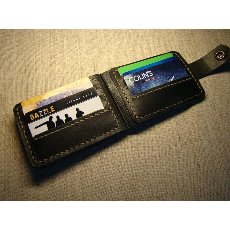 Гаманець чоловічий Card Holder Black Leather