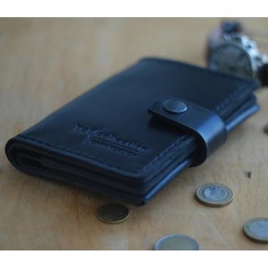 Мужской кожаный кошелек Wallet Black Leather