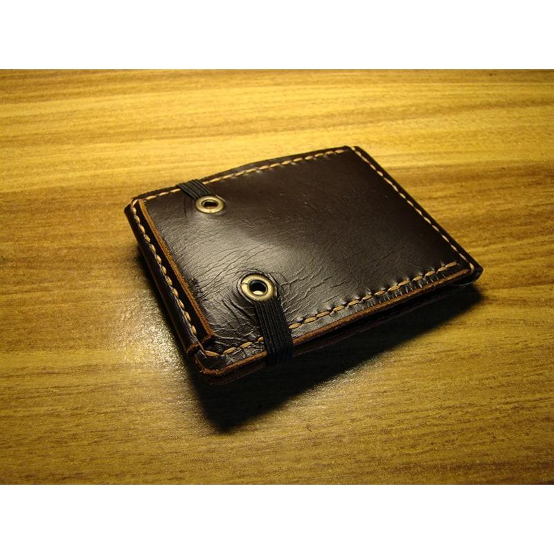 Кошелек мужской с зажимом Wallet Brown Leather