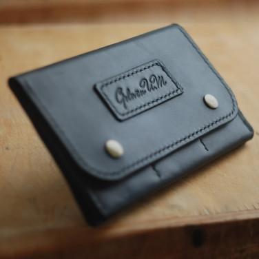 Гаманець чоловічий Clutch Black Leather