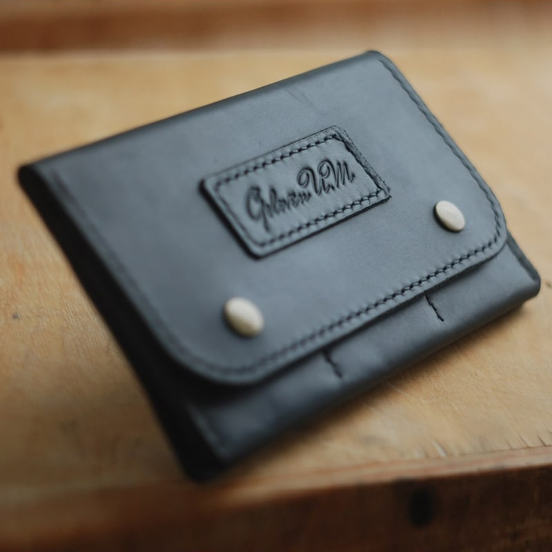Кошелек мужской Clutch Black Leather