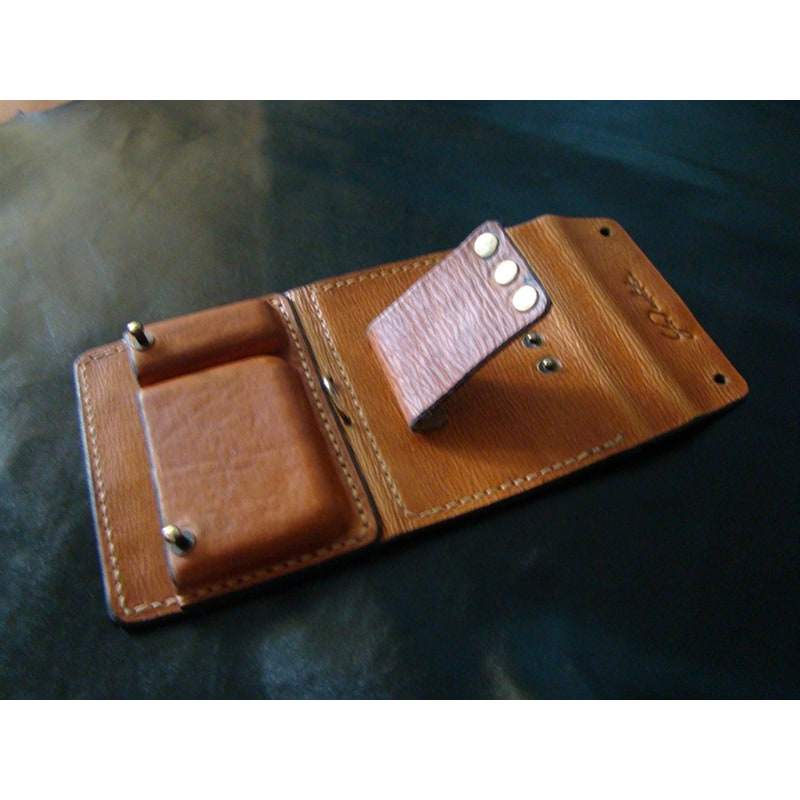 Чоловічий гаманець на ремінь Brown Leather Wallet