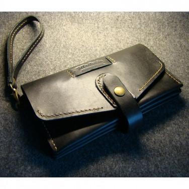 Мужской клатч кожаный Clutch Black Leather