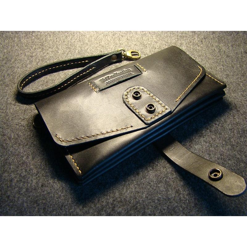 Чоловічий клатч шкіряний Clutch Black Leather