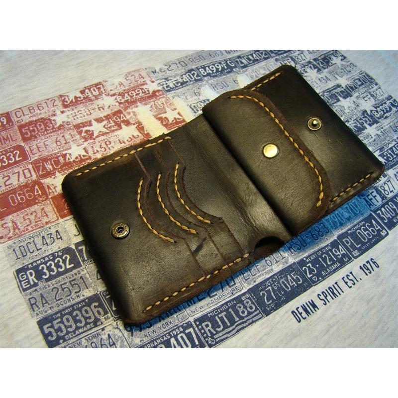 Мужской кошелек Purse Brown Leather