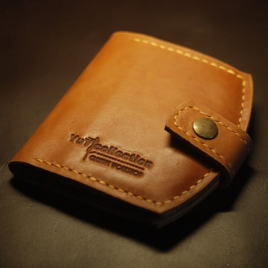 Мужское портмоне кожаное Wallet Brown Leather