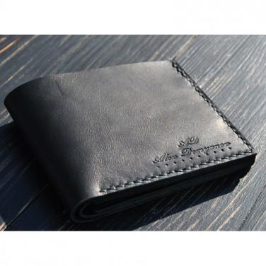 Гаманець чоловічий Purse Classic black leather