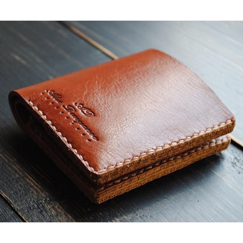 Кошелек мужской кожаный Purse Cinnabar brown leather