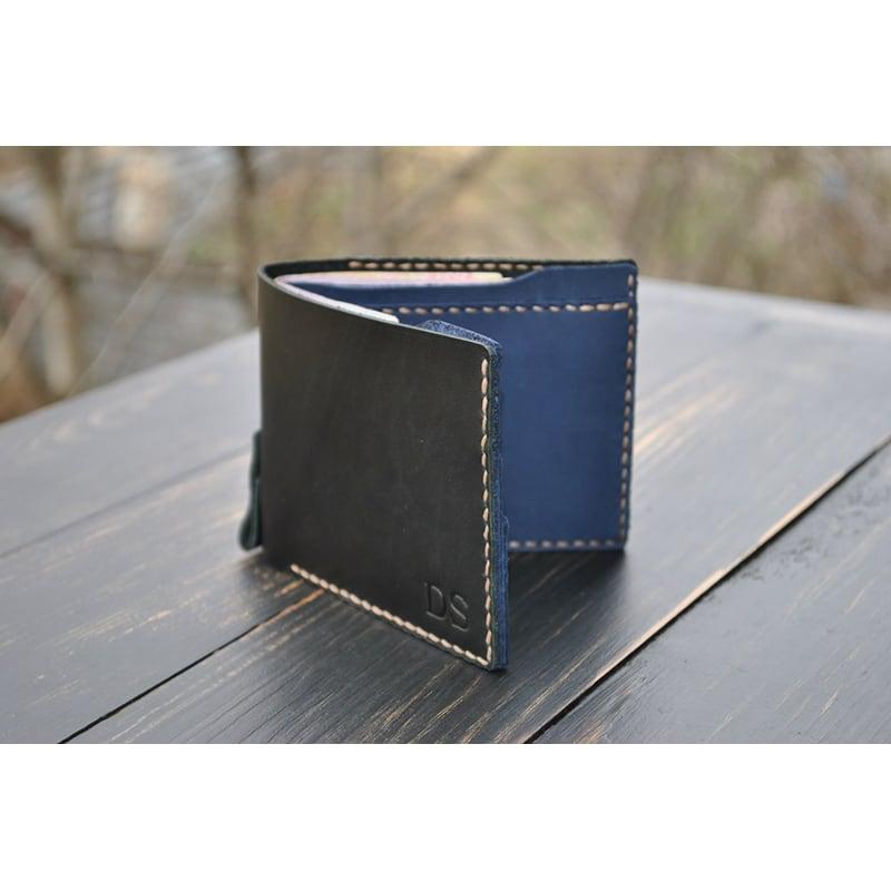 Кошелек мужской Purse Graphite black leather