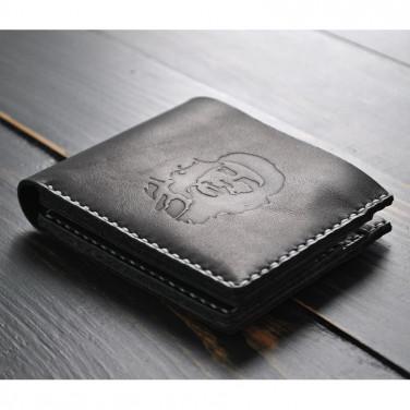 Чоловіче шкіряне портмоне Purse Che Guevara black leather