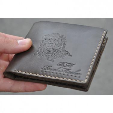 Гаманець чоловічий Purse Lion brown leather