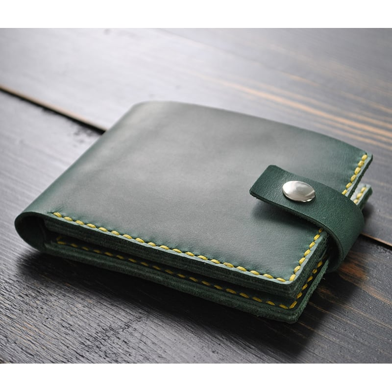 Мужской кошелек Purse Emerald green leather