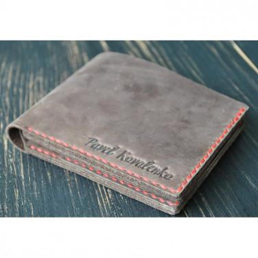 Мужское портмоне кожаное Purse Vintage brown leather