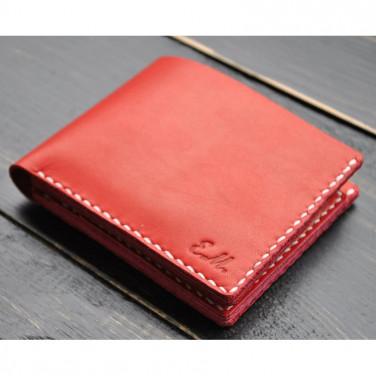 Мужское портмоне кожаное Purse Ruby red leather