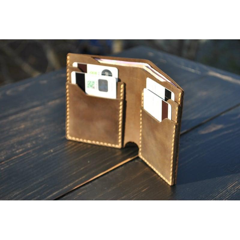Мужской кошелек Purse Cinnamon brown leather