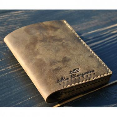 Чоловічий гаманець Purse Cinnamon brown leather