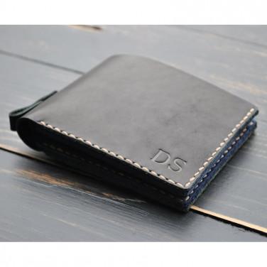 Гаманець чоловічий Purse Graphite black leather