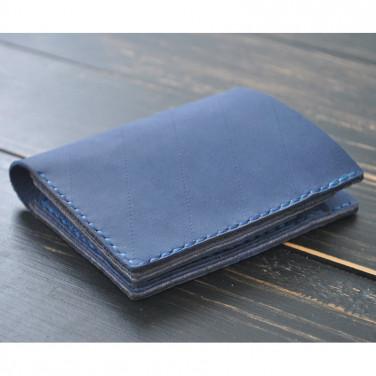 Кошелек мужской Purse Sapphire blue leather