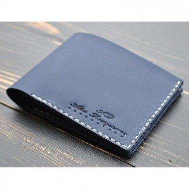 Чоловічий гаманець пормоне Purse Smart blue leather