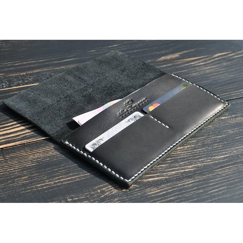 Гаманець чоловічий Wallet Compact gray leather