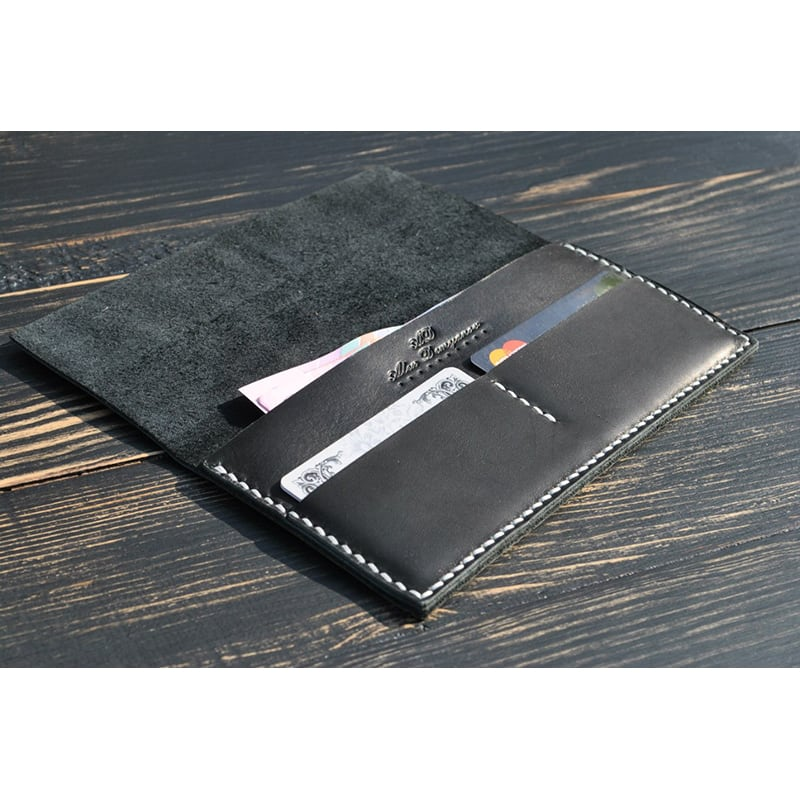 Кошелек мужской Wallet Compact gray leather
