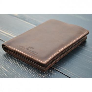 Мужское портмоне Purse Cinnamon brown leather