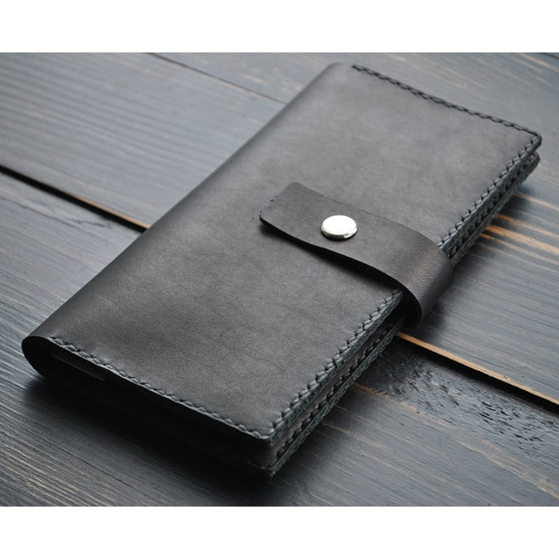 Чоловічий шкіряний гаманець Wallet Tradition black leather
