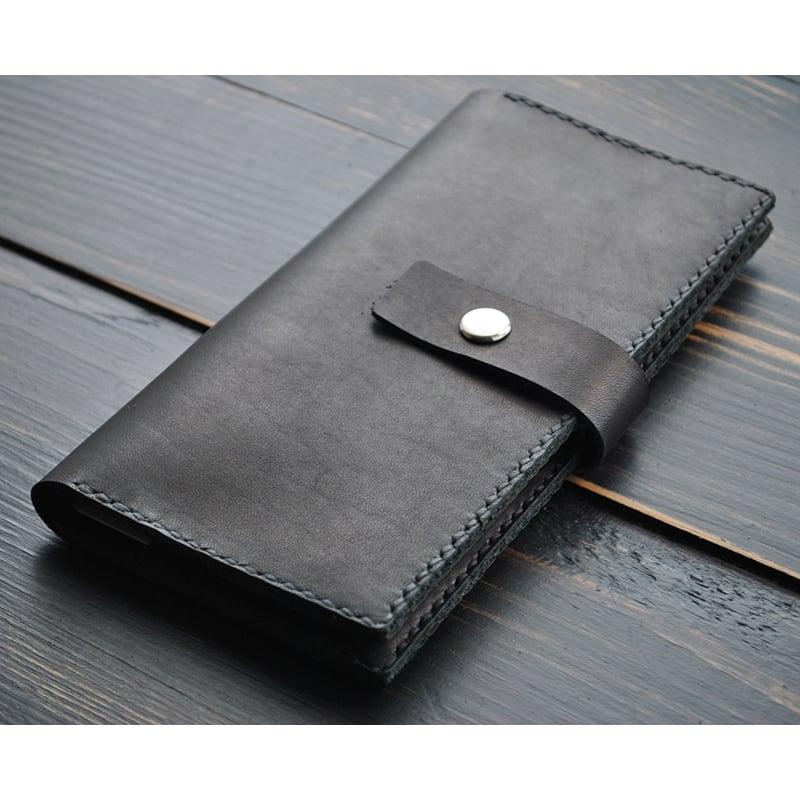Мужской кожаный кошелек Wallet Tradition black leather